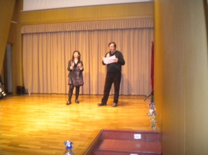 Presentación del Festival a cargo de Ramón Nadal, y Isabel  directora del  Cenro IbercajaActur