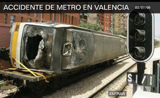 Una imagen del vagón siniestrado