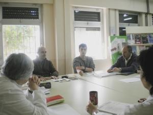 Un momento de la sesión con los profesores del IES Tiempos Modernos