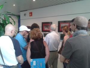 En un momento de la presentación de las obras de la Exposición