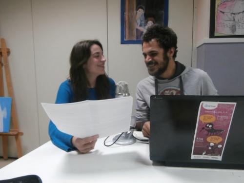 Cristina y Seyit en un momento de la grabación del espacio Karavasar