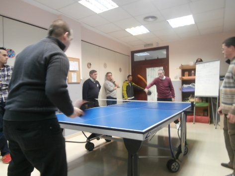 Un momento del Torneo de Ping Pong