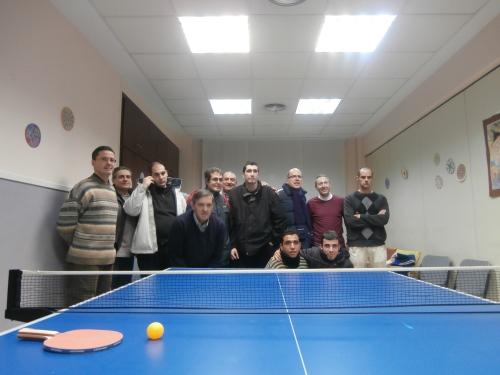 Participantes en el II Torneo de Ping Pong