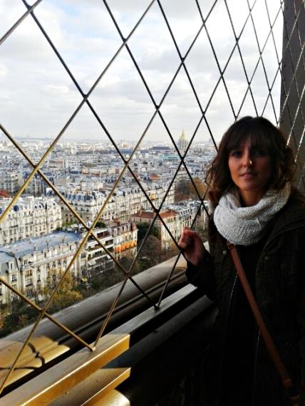 En el primer piso de la Torre Eiffel
