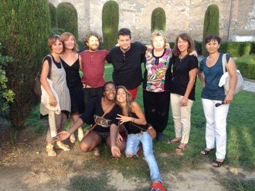 Victor y sus compañeros del Voluntariado Europeo. Toda una experiencia apoyada por Fundación Rey Ardid