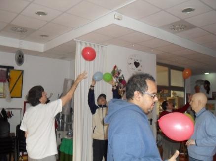 Una sesión con globos