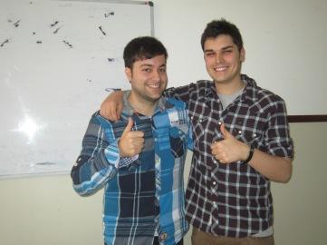 Pablo Gil y Sergio Lázaro, los psicólogos voluntarios de la actividad