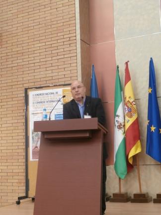 Domingo Díaz del Peral durante su intervención en el Congreso