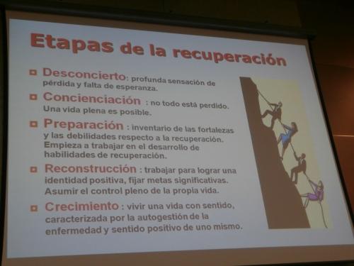 Una de las diapositivas que ilustraron la ponencia