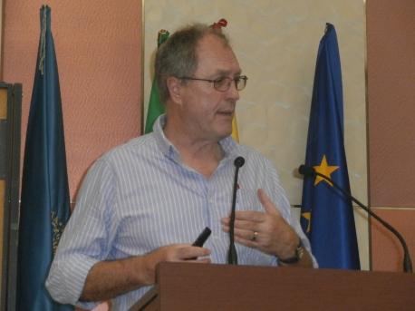 Colin  durante su intervención