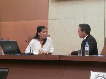 Ana Mingorance durante su intervención