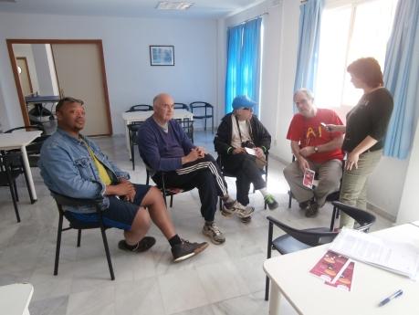Hicimos una entrevista en el Albergue a parte de la delegación Inglesa