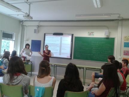 Una de las sesiones de la Sensibilización en el IES Tiempos Modernos