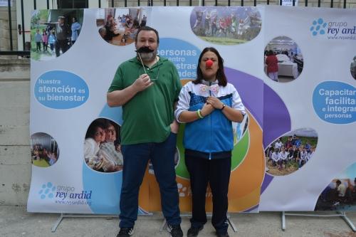 Nuestros compañeros Bernardo y Rosa Eva durante la celebración de la Andada Solidaria