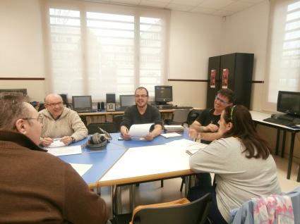 Reunión del taller literirio en el Club Social