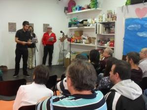 Luis Romero durante el Recital Literario