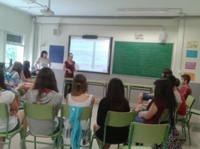 Durante la sesión de Sensibilización en el IES Tiempos Modernos