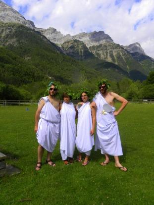 Los dioses nos visitaron para ayudarnos en los juegos Olímpicos de la Campa