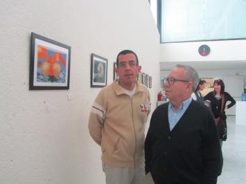 David es uno de los artistas que exponen en Ibercaja Actur