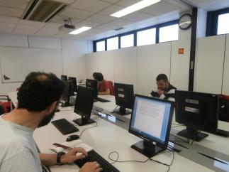 Los participantes en Redes en la actividad
