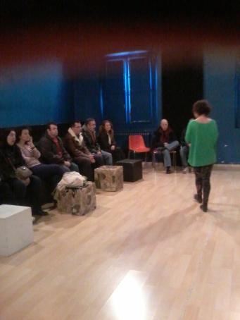 María Pérez, profesora de canto nos explicó su clase