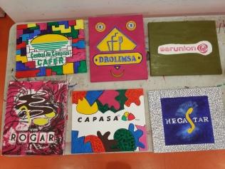 Cuadros con los logotipos de los patrocinadores de la Andada