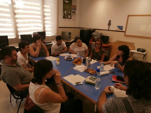 Reunión de voluntariado de Club Social